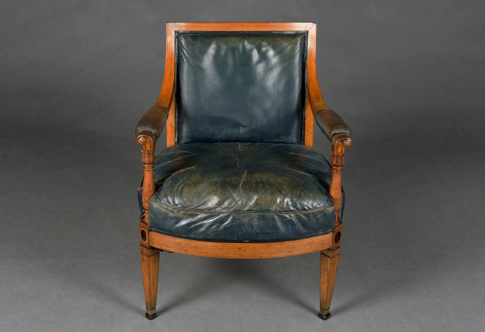 antiker empire sessel orig lederbezug 19 jh ebay. Black Bedroom Furniture Sets. Home Design Ideas