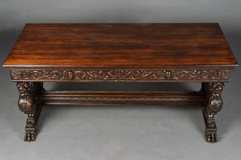 herrenzimmer wangen schreibtisch neo renaissance um 1870 ebay. Black Bedroom Furniture Sets. Home Design Ideas