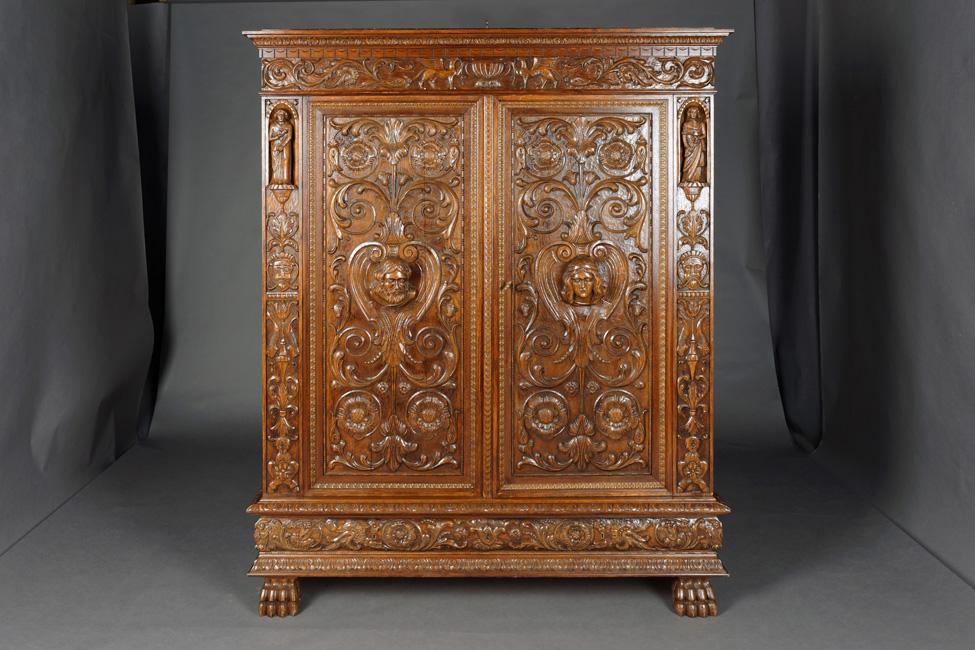 o 218 herrenzimmer schrank neo renaissance um 1870 ebay. Black Bedroom Furniture Sets. Home Design Ideas